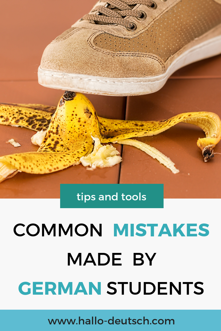 typical mistakes in the German language