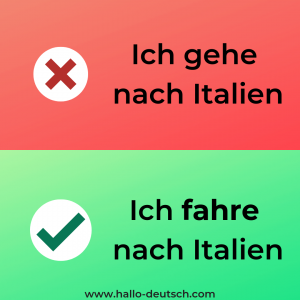 Mistakes German learners make
